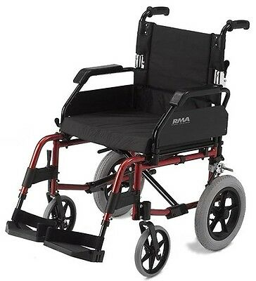 RMA 1530 Lightweight Folding Transit attendant Wheelchair with cushion