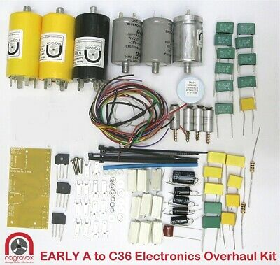 Revox 36 series capacitor, trimmer & rectifier overhaul kit. For all A36 - G36