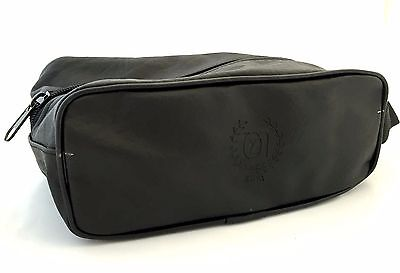 Protective Traveling Bag For Clipper, Trimmer, Shaver Pu Leather Black