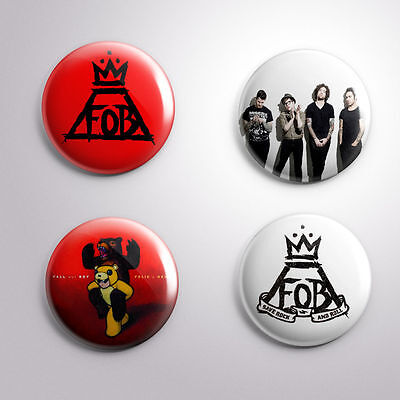 4 FALL OUT BOY -  Pinbacks Badge Button 25mm 1''..