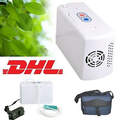 2016 CE Portable Oxygen Concentrator Generator Home/Travel +battery + case DHL
