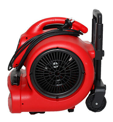 XPOWER Air Mover with Wheels & Handle X-600HC Red 520W 3/4 HP 2.2 Amp 2400 CFM