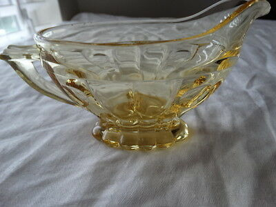 Heisey Glass Sahara Yellow Old Sandwich Oval Footed Creamer FREE SHIPPING