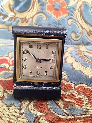 Vintage J.C VICKERY Very Rare 8 Days Clock Swiss Made London Working Condition