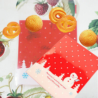 10PCs Cards Cookies Gift Packaging Bags Christmas Decoration(Include Bag Only)