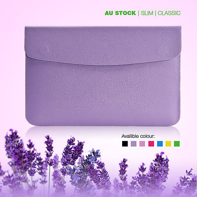 Sleeve Carry Laptop Notebook Bag Case For Apple Macbook 12 inch Slim Leather