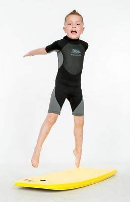 Trespass Scuba Kids Short Black 3 mm Neoprene Boys Wetsuit for Diving Swimming