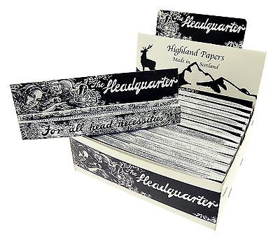 Highland Headquarters Kingsize Rolling Papers & Tips Multiple Choise 24 Full Box