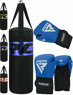 RDX Kids Punch Bag Junior Boxing Heavy Filled MMA Kickboxing Training Gloves 2FT