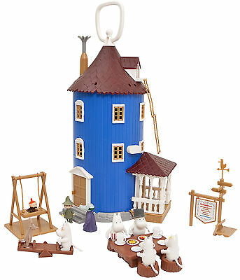 Moomin Plastic Toy House and 9 Figures Martinex Finland *NEW