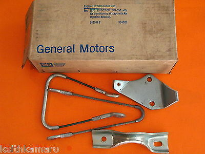 Nos 70 Chevy Pickup Engine Stop Lift Cable Unit 334520 With A/c C10 C20 C30