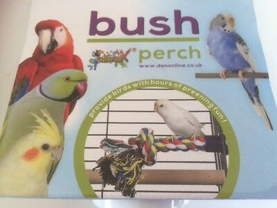 Rope Perch (Preening Perch) SMALL 16cm -for finches,Canaries, Budgies, Parakeets