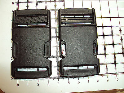 """2pcs. Plastic Side Release Buckles For Webbing 30mm  Bags Straps Clips  """"P"""""""
