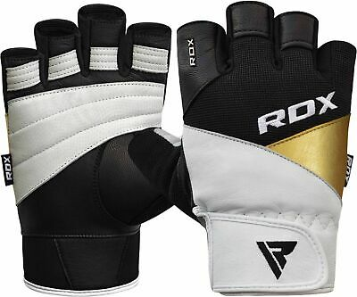 RDX Weight Lifting Gloves Gym Fitness Workout Powerlifting Breathable NUBUCK