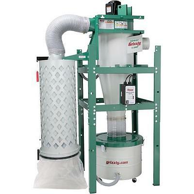 G0443 Grizzly 1-1/2 HP Cyclone Dust Collector