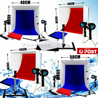 40/50CM LARGE Photo Softbox Lighting Studio Cube Tent Soft Box Light Stand Kit