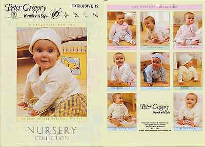Peter Gregory Nursery Collection Baby Knitting Book DK & 4 Ply Patterns