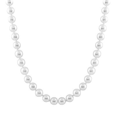 10-11mm White ocean pearls necklace. 36'' endless OCN-10/36