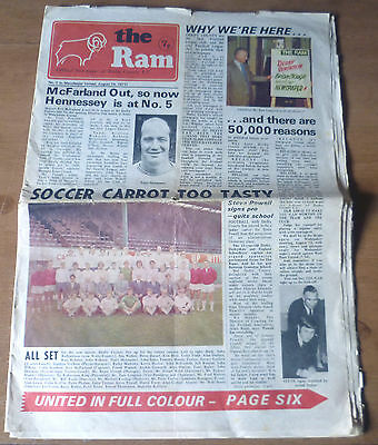 Derby County (Champions) v Manchester United, 1971/72 - Division One Programme.