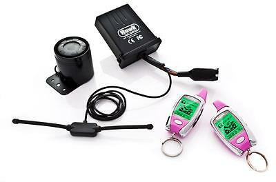 Hawk Pink Lcd 2 Way Pager Motorcycle Motorbike Alarms & Immobiliser Remote Start