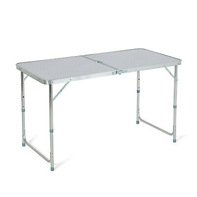 4 Foot Aluminium Folding Portable Camping Picnic Party Dining Table Height Adj