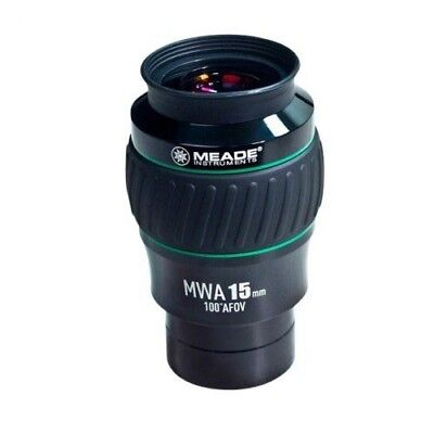 Meade Instruments 607017 Eyepiece, 100 Degree, MWA 15MM, 2-Inch (Black/Green)