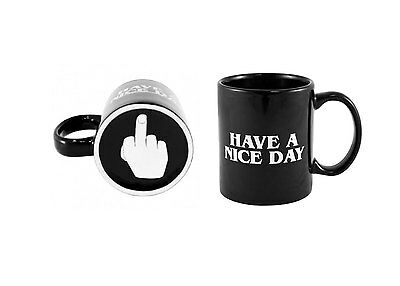 """eGadget 3D """"Up Yours"""" Have a Nice Day Cursing Humour Funny Mug. Gift Boxed."""