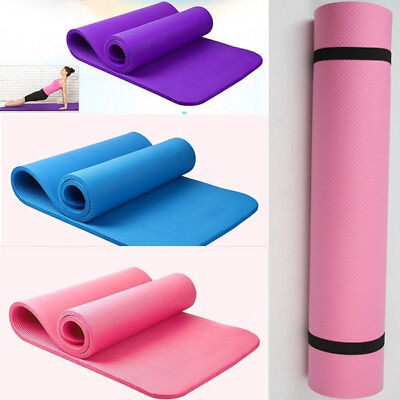 Yoga Mat Aerobic Exercise Fitness Gym Plates Camping Non Slip 6/8/10mm Thick Hot
