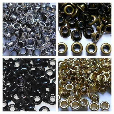 100 Eyelet Washers Grommets in 4mm inner hole in Bronzes Leather Craft Scrapbook