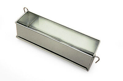 "Gobel Pate Terrine Mold with hinges, Tinned Steel, 3"" Wide x 3"" High 20"" Long"