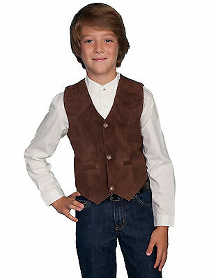 Scully's Kid Expresso Brown Suede Western Vest