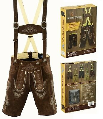 German Bavarian Lederhosen Pure Leather Men Trachten Wear Oktoberfest Men Shorts