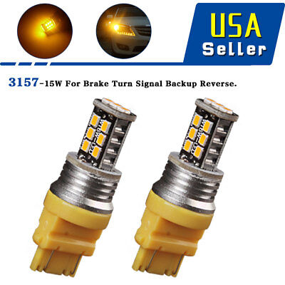 2x 6000K White 1157 BAY15D 50-SMD LED Tail Brake Stop Backup Reverse Light Bulbs