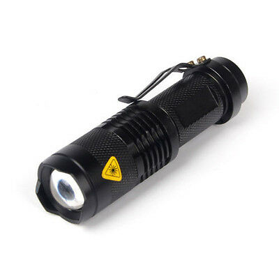 1200Lm CREE Q5 14500/AA ZOOMABLE LED Flashlight Foucus Torch Lamp Light Outdoor
