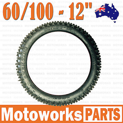 """2.50- 12 60/100 - 12"""" inch Front Rear Knobby Tyre Tire PIT PRO Dirt bigfoot Bike"""
