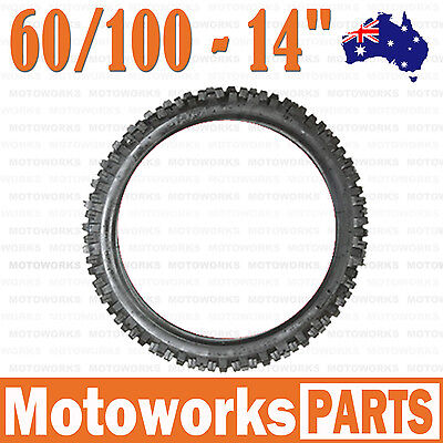 "2.75 -14 60/100-14"" Inch Front Knobby Tire 125cc PIT TRAIL DIRT BIKE Pro Bigfoot"