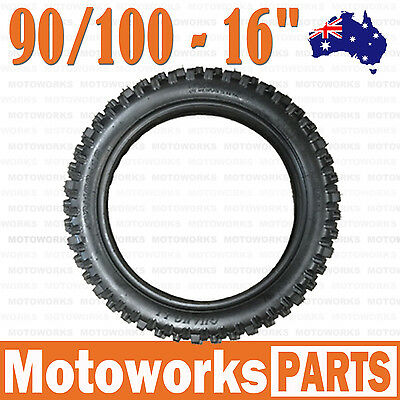 "90/100- 16"" inch Rear Back Knobby Tyre Tire PIT PRO BIGFOOT Trail Dirt Bike"