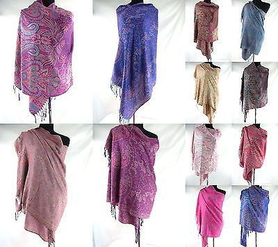 US SELLER-wholesale lot 5pcs paisley boho viscose pashmina scarves shawl wrap