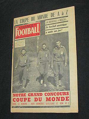 France Football N° 636 1958 Special Coupe Du Monde Suede Equipe France