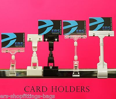 CARD PRICE HOLDER for Garment Rail Clothes rail shelf display holder