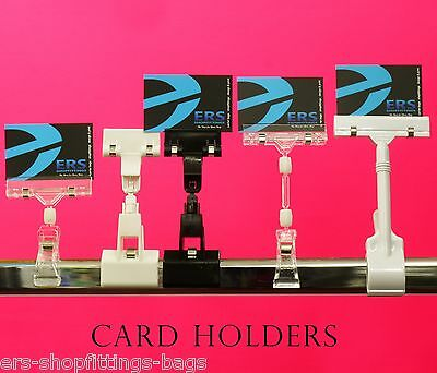 CARD PRICE HOLDER for Garment Rail ,