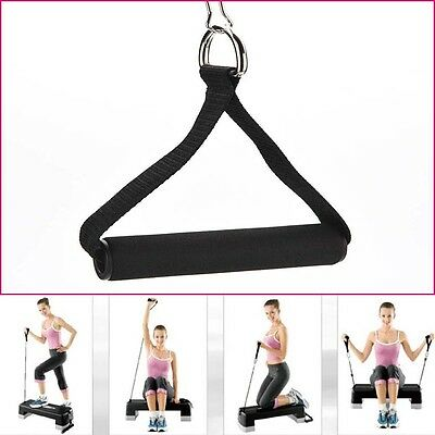 1 Pcs Tricep Rope Attachment V Bar Dip Station Resistance Fitness Exercise Gym