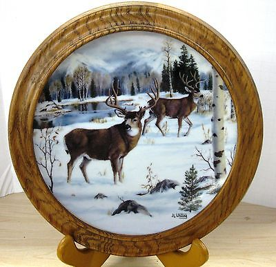 Winter's Majesty Collectors Plate by J.L. Whiting Franklin Mint Free Shipping!