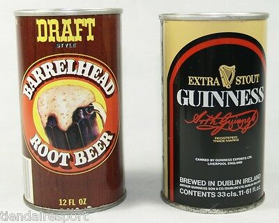 Two Can Vintage Guinness Ireland Beer & Draft Barrelhead Root Beer.