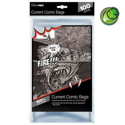 Ultra Pro Current Size Acid-Free Comic Bags - Qty 100