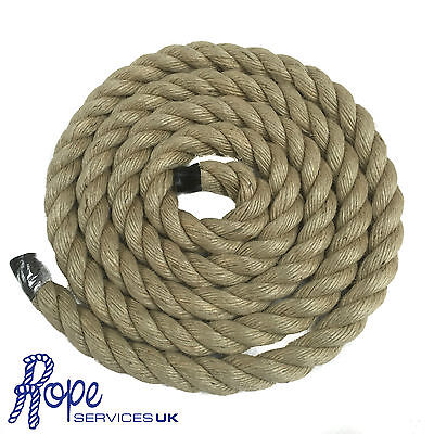 Natural Jute Rope Twisted Decking Cord Garden Boating Sash Twine Strand Camping