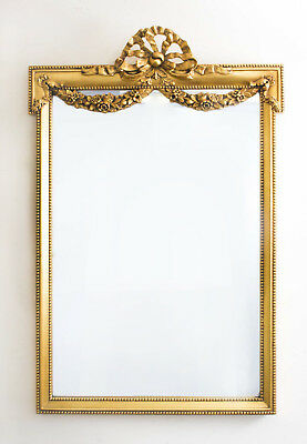 Magnificent Ornate French Carved Giltwood Mirror 123 x 81 cm