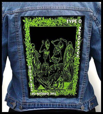 TYPE O NEGATIVE - The Origin of the Feces  --- Giant Backpatch Back Patch