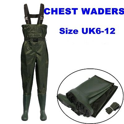 Waterproof Chest Waders Stockingfoot Breathable For Fly Coarse Fishing Size 6-12