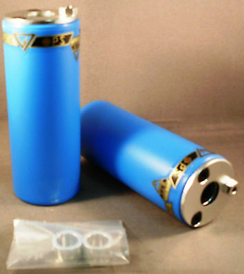Axle Pegs Blue BMX Bike Bicycle Park Trick Trail Bike  for 3/8 or 14mm Freestyle